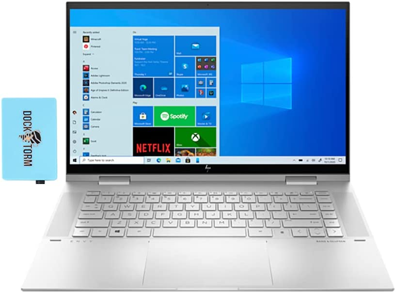 HP Envy x360-15t Home and Business Laptop (Intel i7-1165G7 4-Core, 16GB RAM, 512GB PCIe SSD, Intel Iris Xe, 15.6