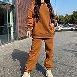 AYDQC Juego de chándales de Mujer Set Casual Fleece Mujer Invierno 2020 Traje de Gran tamaño con Capucha de Manga Larga con Capucha Femenina Ropa Deportiva Pantalones