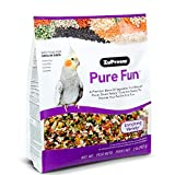 ZuPreem Pure Fun Bird Food for Medium Birds, 2 lb Bag (2-Pack) | Powerful Blend of Vegetables, Natural FruitBlend Pellets, Fruit and Seeds | Lovebirds, Quakers, Small Conures, Cockatiels