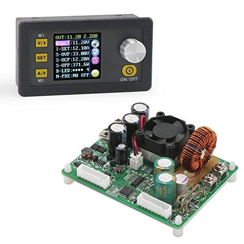 Buck Power Supply, DROK Adjustable Voltage Regulator Converter DC 6-60V Step Down to DC 0-50V 15A 750W Variable Volt Transformer Module