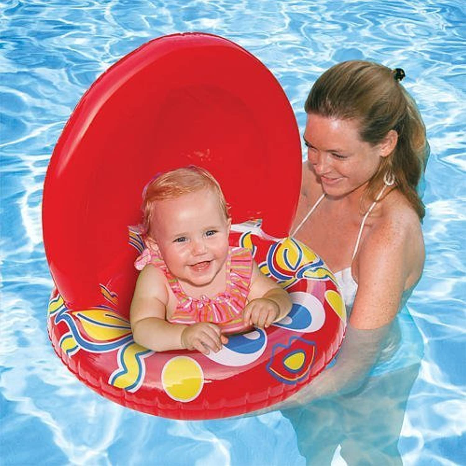 Aqua Leisure Fish Baby Float 50+ UPF Sun Predection by Aqua Leisure
