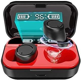【2020進化版 最新Bluetooth5.0+EDR】 Bluetooth イヤホン LEDディスプレイ IPX6完全防水 ワイヤレス イヤホン スポーツ Hi-Fi高音質 自動ペアリング ブルートゥース イヤホン 両耳 左右分離型 軽量 マイク表示 Siri対応 iPhone/iPad/Android適用