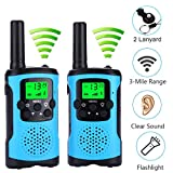 AceLife Walkie Talkies for Kids with 2 Lanyard,2 Way Radio Toy with LED