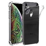 ebestStar - kompatibel mit iPhone XS Max Hülle Premium Flex Silikongel Handyhülle, Klar TPU Schutzhülle, verstärkten Rändern & Ecken, Transparent [iPhone: 157.5 x 77.4 x 7.7mm, 6.5'']