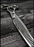 Kamisori Forbici testurizzanti per capelli SWORD, fatte a mano in Giappone, misura 16,5 cm