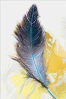 ダイヤモンド刺繍キット,ラインストーンピクチャーアートクラフト ホームウォールデコ用 フェザー40 * 50Cmフレームレス
