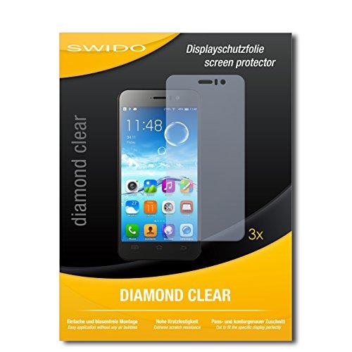 SWIDO 3 x Schutzfolie Jiayu G4S Bildschirmschutz Folie DiamondClear unsichtbar