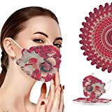 YpingLonk 10 Stück Erwachsene Mundschutz Bunte Motiv Druck Schutz Atmungsaktiv Mund und Nasenschutz Halstuch Mund-Nasen-Schutz für Männer Frauen (10 Stück-A03)