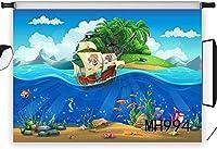新しい海賊船の写真の背景7x5ft子供赤ちゃん誕生日写真背景カスタマイズビニールスタジオプロップMH994