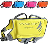 Vivaglory Skin-Friendly Neoprene Dog Life Jacket with Superior Buoyancy and Dual Rescue Handles