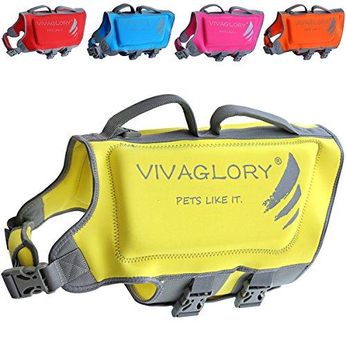 VIVAGLORY Dog Life Jacket, Neoprene Life Jackets...
