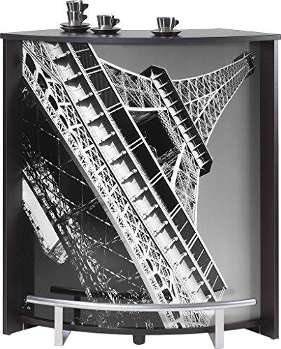 SIMMOB Meuble Comptoir Bar Noir Imprimé - Coloris - Tour Eiffel 750 751, Bois