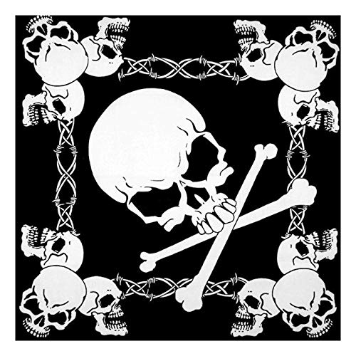 tijgerroze bandana 21 x 21 inch unisex flaming skull bandanas katoen motorfiets bedrukte hals stropdas biker zakdoek hoofd wrap (2 stuks)