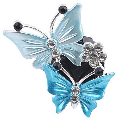 Aiasiry Clip de decoración de ventilación de Aire de Coche Clip de Mariposa Doble Clip de Perfume de Salida de Aire Accesorios de Coche (Azul Lago)