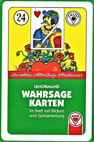 Lenormand Wahrsagekarten (Symbole): Die echten Altenburg-Spielkarten. 36 Blatt mit Bildern und Anleitung