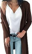 MODOQO Women's Long Cardigan Knitwear Solid Winter Sweater Coat Outwear Tops