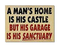 A Man'S Is His Castle 金属板ブリキ看板警告サイン注意サイン表示パネル情報サイン金属安全サイン