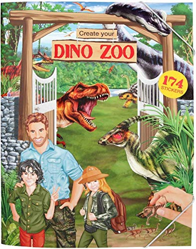 Depesche 10920 - Malbuch Create your Dino Zoo, Dino World, ca. 33 x 25 x 0,5 cm