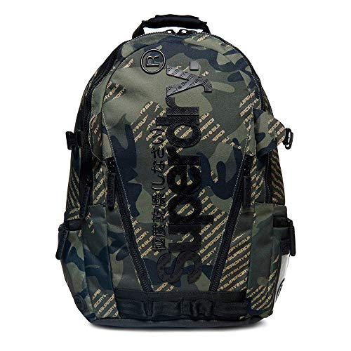 Superdry Camo Logo Tarp Homme Backpack Vert ONE SIZE