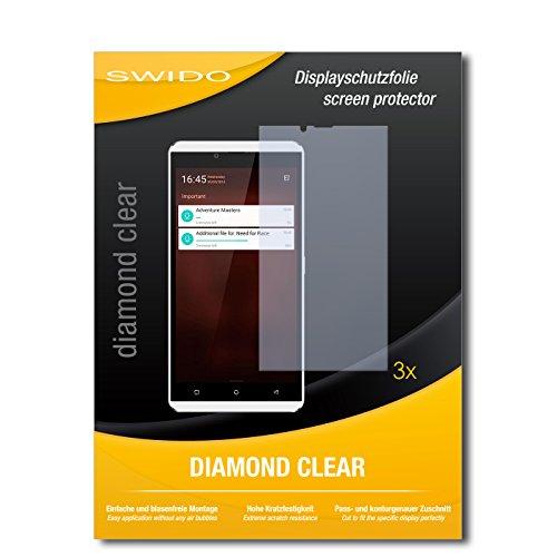 SWIDO 3 x Schutzfolie Allview V2 Viper X Bildschirmschutz Folie DiamondClear unsichtbar