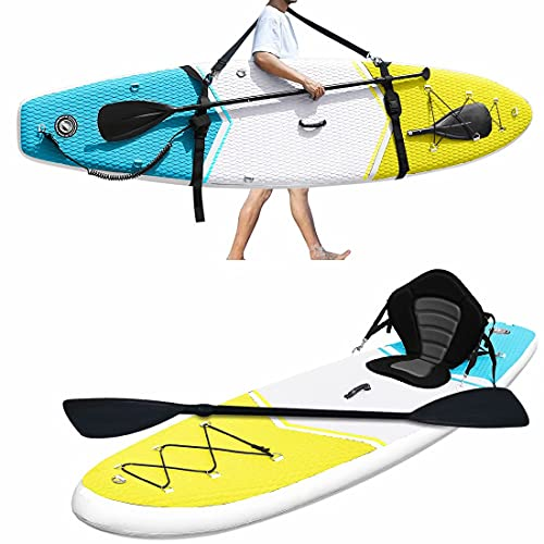 Zupapa Inflatable Stand Up Paddle Board Non Slip Deck Kayak Convertible for...