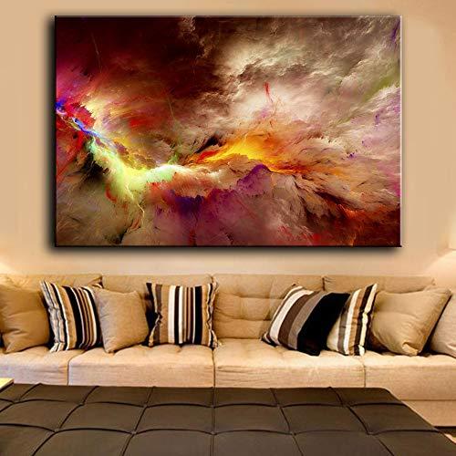 N / A Pintura sin Marco Lienzo Artista decoración del hogar impresión Pintura al óleo Sala de Estar Pared Abstracto Nube irreal póster ZGQ7725 40x60cm