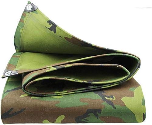 ALGFree Bache Imperméable Tissu Imperméable Camouflage Tissu Oxford Imperméable Crème Solaire Voiture Bache étanche Couverture Canopée, 17 Tailles (Couleur   vert, Taille   2.8x7.8m)