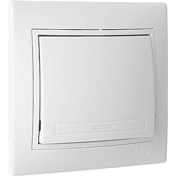 Interruptor conmutado Nilo/é en base blanca