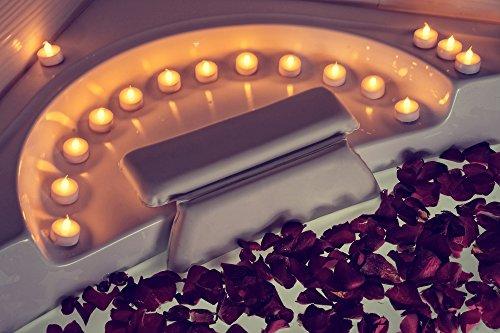 Kenley Badewannenkissen Badekissen – Antirutsch Kissen Polster für Badewanne Wanne Bad Whirlpool Wellness Spa – Nackenkissen Kopfkissen Wannenkissen mit Saugnäpfen für Nacken – Badeschwamm Inklusive - 2