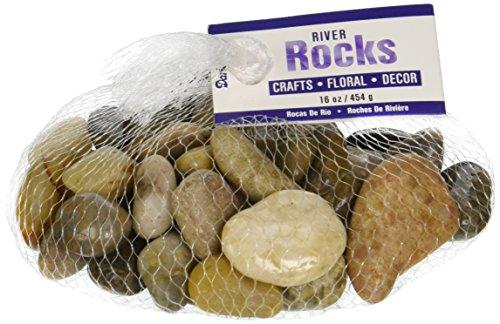 Darice 2462-01 River Rocks 16oz-Natural