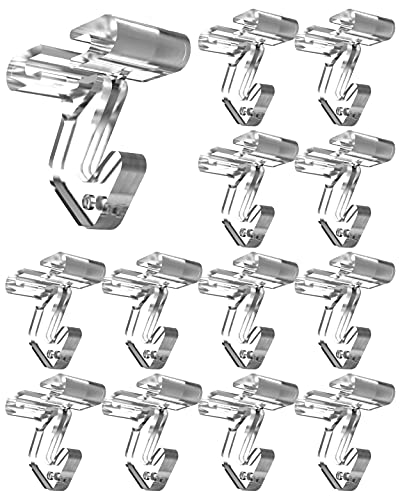 Clear Drop Ceiling Hooks Classroom Decorations - 25 Pack Polycarbonate Ceiling Hanger Hooks for Hanging T-bar Track Clip on Suspended Ceiling Tile Grid for Office Home Stores and Wedding Decorations