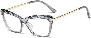 Azoxus Women Cat Eye Glasses Non Prescription Clear Lens Crystal Frame