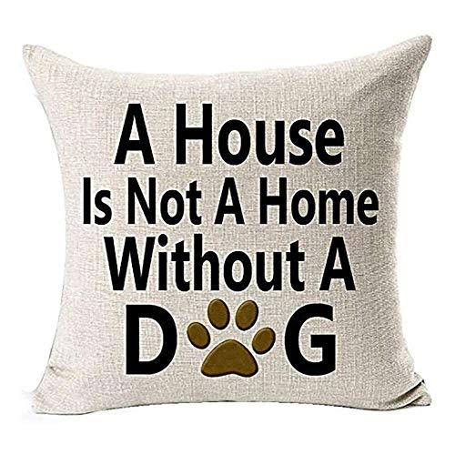 YuKeShop Best Dog Lover Gifts Funda de cojín de lino y algodón