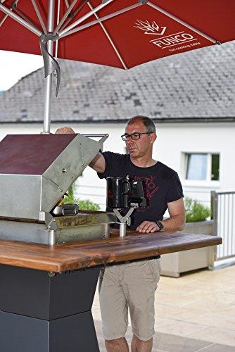 51FDJhf2rOL - Funco Grillhaube Grillzubehör, Edelstahl, 70x55x30 cm