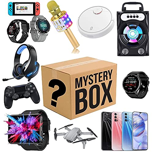 ZQW M_ystery_ Box, una excelente relación Sorpresa de cumpleaños Caja, Lucky Box for Adultos Sorpresa de Regalo, como Aviones no tripulados, Inteligente Relojes, gamepads y Más