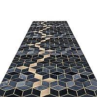 廊下敷きマット ランナー 厚い廊下のランナーラグ、ホテルのキッチンホールの廊下の入り口、幾何学模様のモダンな滑り止めの洗える長いランナー (Color : Style A, Size : 1.2×5m)