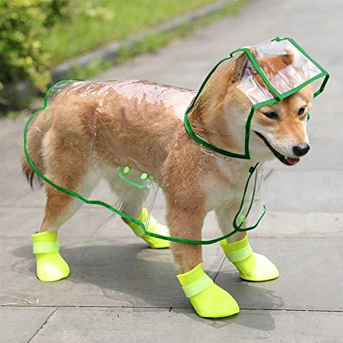 Abnaok Hunde Regenmantel, wasserdichte Hunderegenmantel Regenjacke Hund mit Kapuze für Kleine Hunde