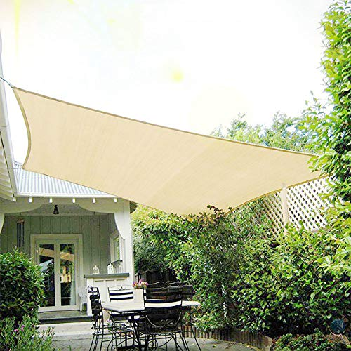 R&F Pérgola - Pantalla con ojal, 90 % resistente a los rayos UV, cubierta de malla para jardín, cubierta de jardín, color beige, 1×3m