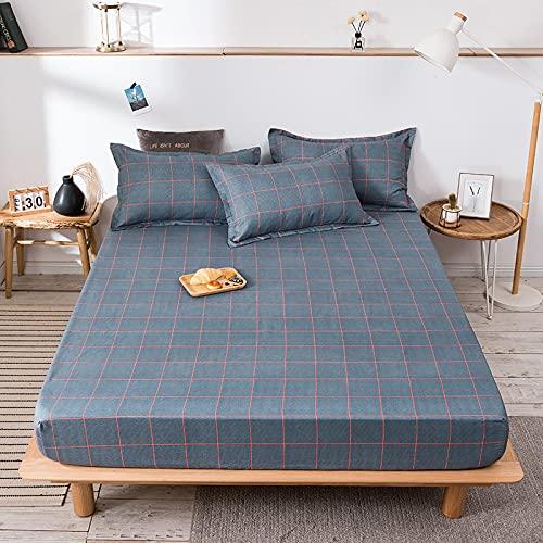 HAIBA Sábanas bajeras de color liso súper suave y cálidas térmicas y acogedoras sábanas de cama - doble, 180 x 200 cm+20 cm (3 piezas)