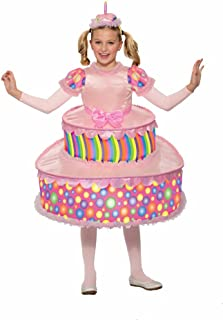 Forum Little Girl's Cute Birthday Party Cake Costume Dress Pink Lg Childrens Costume, pink, Large