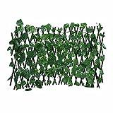 Libetter Pantalla De Privacidad Artificial para Valla De Hiedra, Decoración Vegetal, Valla Simulación Ajustable Artificiales Hojas Enredadera Cerca Red Rota para Decoración De Jardín