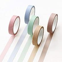 Washi Tape Set 5 Rollen Dekorative beschreibbare Washi Craft für DIY Scrapbooking Craft..
