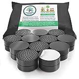 Elevadores de goma antideslizantes para base de maceta de 24unidades con almohadillas autoadhesivas