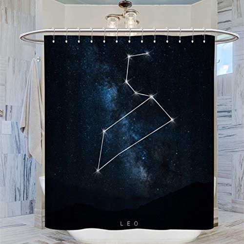 AFGGOL Space Constellations Leo Duschvorhang Sternenhimmel Heimdekoration Duschvorhang für Badezimmer Duschen, Ställe & Badewannen, 183 x 183 cm
