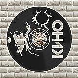 wtnhz Reloj de Pared con Disco de Vinilo LED Reloj de Pared con Disco de Vinilo Movimiento de Cuarzo decoración del hogar, Regalos para fanáticos