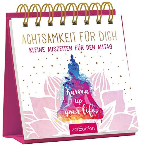 Achtsamkeit für dich: Kleine Auszeiten für den Alltag   Schöne Tischdeko zur Stressbewältigung; tolles Geschenk für Yoga-Fans