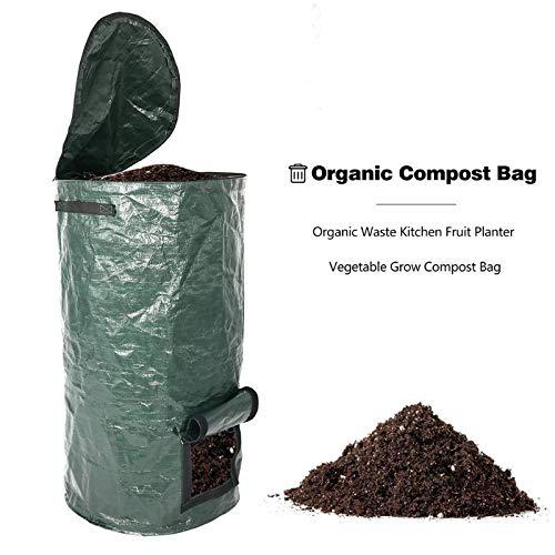 Great Price! XNJHMS Organic Waste Kitchen Garden Yard Compost Bag Environmental PE Cloth Planter Kit...