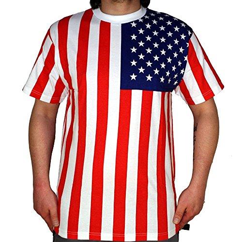 U.S.A. - T-Shirt, Farbe: Schwarz, Weiß, Blau, Größe: XXL