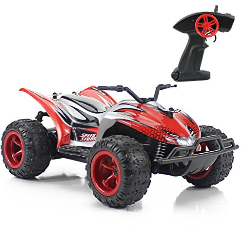 Fistone RC Car 1:22 Scale Radio Control High Speed Racing Car Monster Truck Off Road Dune Buggy Wireless Receiver Remote Control Hobby Toys for Kids & Adults