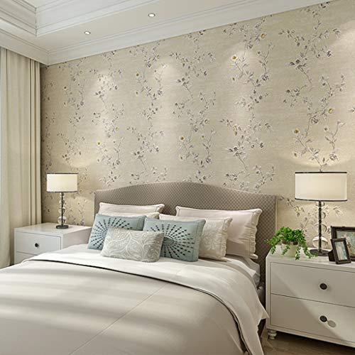 AMHD fotobehang, vliesstof, bloemenmotief, wanddecoratie voor woonkamer slaapkamer/woonkamer/TV achtergrond 53 cm x 1000 cm
